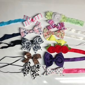 Other - Lot of 12 baby girl bow headbands 3-6 months